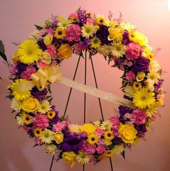 Loving Thoughts Wreath from Lesher's Flowers, local St. Louis Florist since 1973
