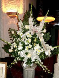 White Remembrance from Lesher's Flowers, local St. Louis Florist since 1973