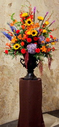 Elegant Sympathy from Lesher's Flowers, local St. Louis Florist since 1973