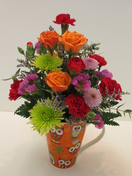 Give a Hoot Mug from Lesher's Flowers, local St. Louis Florist since 1973