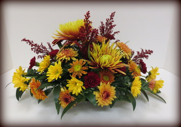 Give Thanks Centerpiece from Lesher's Flowers, local St. Louis Florist since 1973