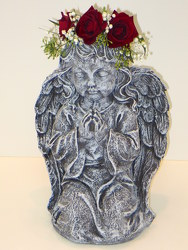 Guardian Angel with Halo II from Lesher's Flowers, local St. Louis Florist since 1973