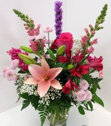 Pretty In Pink from Lesher's Flowers, local St. Louis Florist since 1973