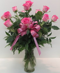 Pink Roses from Lesher's Flowers, local St. Louis Florist since 1973