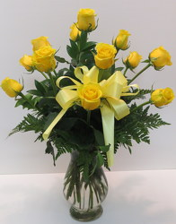 Yellow Roses from Lesher's Flowers, local St. Louis Florist since 1973