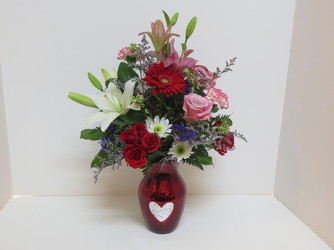 My Valentine from Lesher's Flowers, local St. Louis Florist since 1973