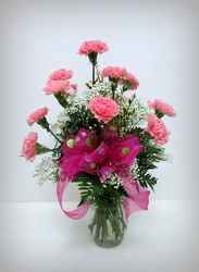 Pink Carnations from Lesher's Flowers, local St. Louis Florist since 1973