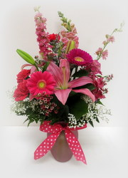 Pink Passion from Lesher's Flowers, local St. Louis Florist since 1973