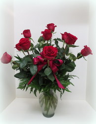 Red Long Stem Roses from Lesher's Flowers, local St. Louis Florist since 1973