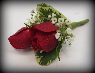 Red Mini Rose Bout from Lesher's Flowers, local St. Louis Florist since 1973
