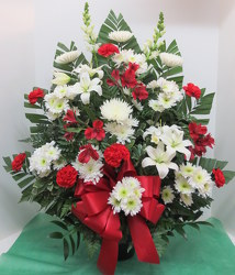 Red & White Reflection from Lesher's Flowers, local St. Louis Florist since 1973