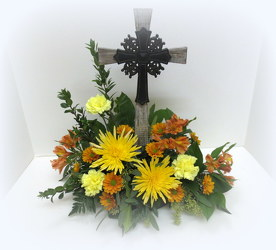 Rugged Cross from Lesher's Flowers, local St. Louis Florist since 1973