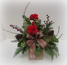 Rustic Holiday from Lesher's Flowers, local St. Louis Florist since 1973