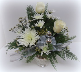 Silver Elegance from Lesher's Flowers, local St. Louis Florist since 1973