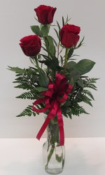 Three Rose Vase from Lesher's Flowers, local St. Louis Florist since 1973