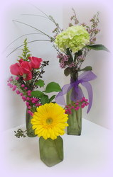 Three's a Charm from Lesher's Flowers, local St. Louis Florist since 1973