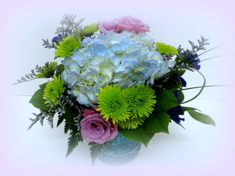 Turquoise Impression from Lesher's Flowers, local St. Louis Florist since 1973