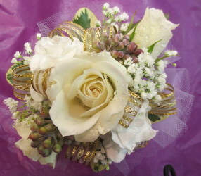Wrist Corsage from Lesher's Flowers, local St. Louis Florist since 1973