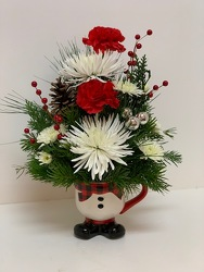 Buffalo Snowman from Lesher's Flowers, local St. Louis Florist since 1973