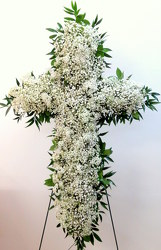 Delicate Cross from Lesher's Flowers, local St. Louis Florist since 1973