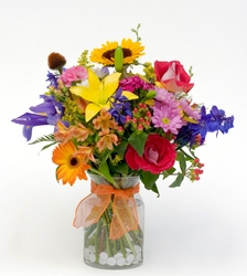 Bright and Light from Lesher's Flowers, local St. Louis Florist since 1973