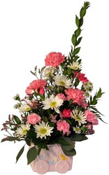 Welcome Baby Girl from Lesher's Flowers, local St. Louis Florist since 1973